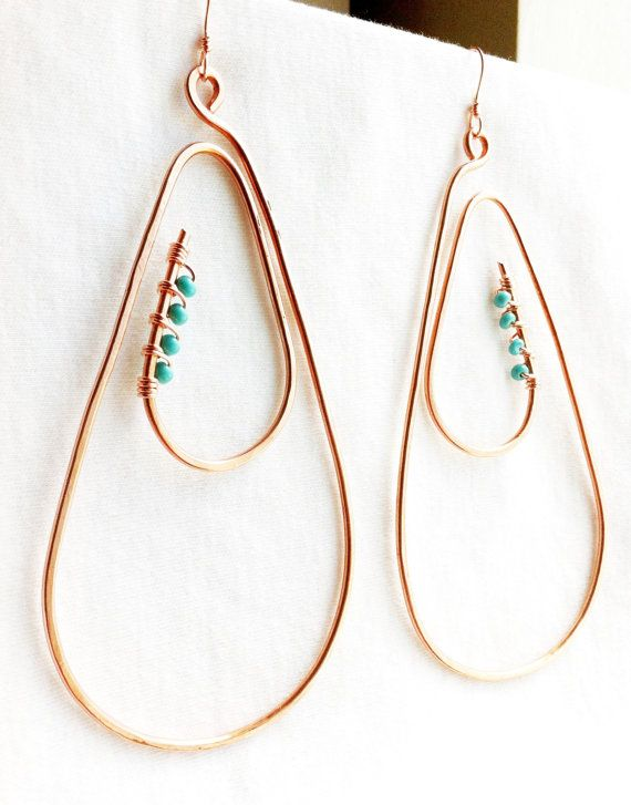 SPIRAL TEARS -  Large Earrings