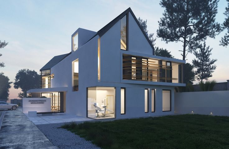 Beautiful modern house with a private dentist office. Germany, designed by Kasia McCloskey 708.209.7506