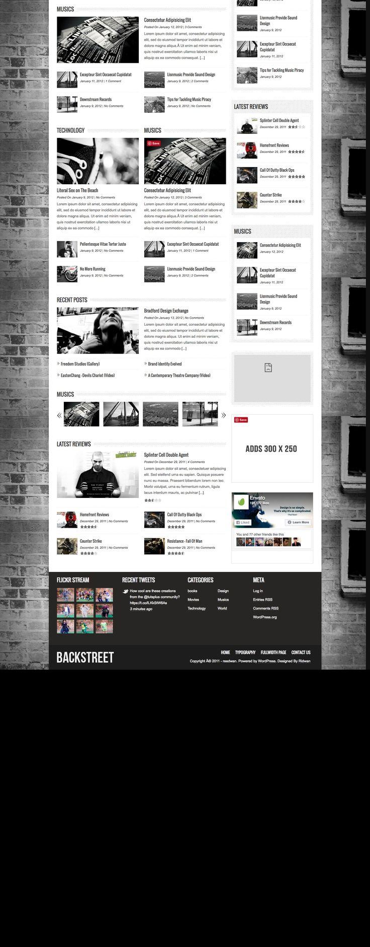 Backstreet is a modern wordPress magazine, portfolio and blog theme.