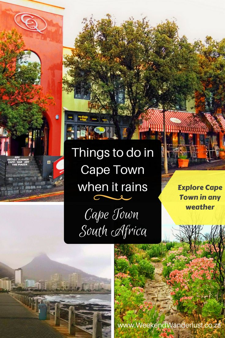 Things to do in Cape Town when it rains. You don't need to hide from the rain, there is always something fun to do in Cape Town, even when it's raining.