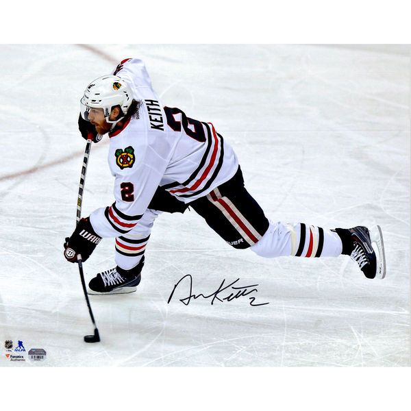 "Duncan Keith Chicago Blackhawks Fanatics Authentic Autographed 16"" x 20"" White Jersey Shooting Photograph - $139.99"