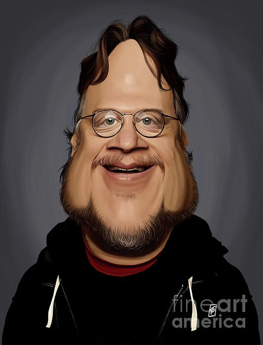Guillermo Del Toro art | decor | wall art | inspiration | caricatures | home decor | idea | humor | gifts