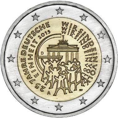 """Moneta Celebrativa """"25° anniv. riunificazione tedesca"""" Anno: 2015 Stato: Germania"""