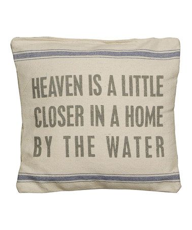 Look at this #zulilyfind! 'By the Water' Pillow #zulilyfinds