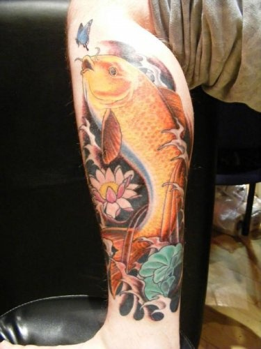Koi signs and tattoos and body art on pinterest for Carpa koi butterfly