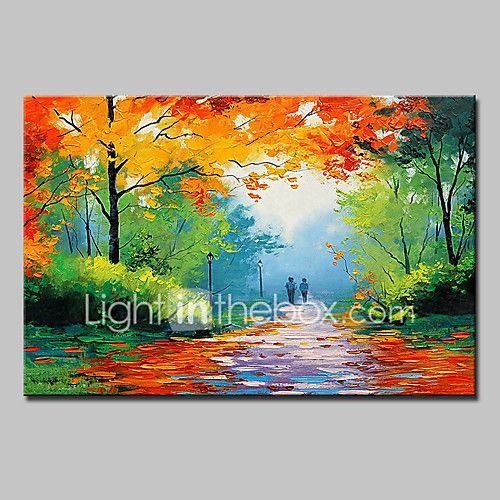 Pintada a mano Paisaje Paisajes Abstractos Horizontal,Modern Un Panel Lienzos Pintura al óleo pintada a colgar For Decoración hogareña 2017 - $670.55