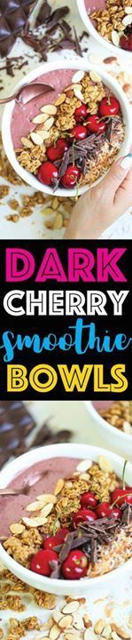 Dark Cherry Smoothie Dark Cherry Smoothie Bowls - A quick and...  Dark Cherry Smoothie Dark Cherry Smoothie Bowls - A quick and easy breakfast that takes less than 10 minutes to make in the morning! Nutrient-rich and budget-friendly!!! #sponsored #UndeniablyDairy @DairyGood Recipe : http://ift.tt/1hGiZgA And @ItsNutella  http://ift.tt/2v8iUYW