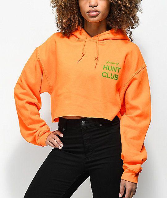 f2a465b6d2c9 Post Malone Stoney Target Hunt Club Orange Crop Hoodie | zumiez ...