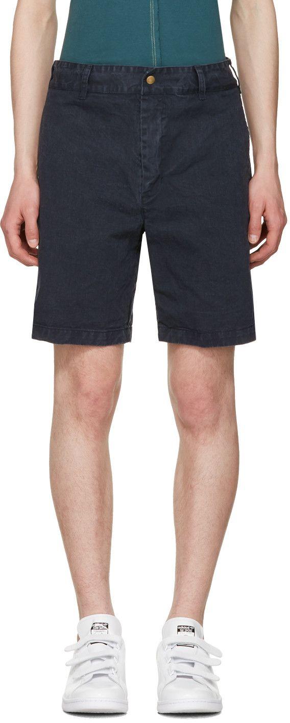 NOAH NYC Navy Chino Shorts. #noahnyc #cloth #shorts