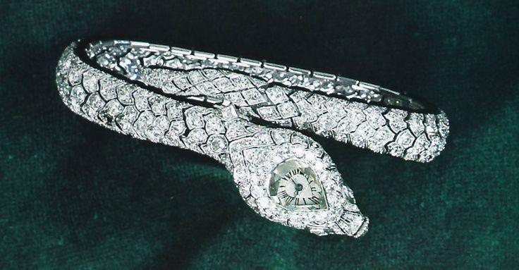 Imelda marcos  Cartier Paris Diamond Serpent Watch  Made by Lavabre    Imelda Marcos Jewelry