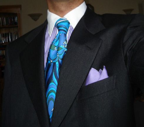 If I ever wanted to dress like Di Santo...but I'd bag the tie. Brioni Italian Men's Suit