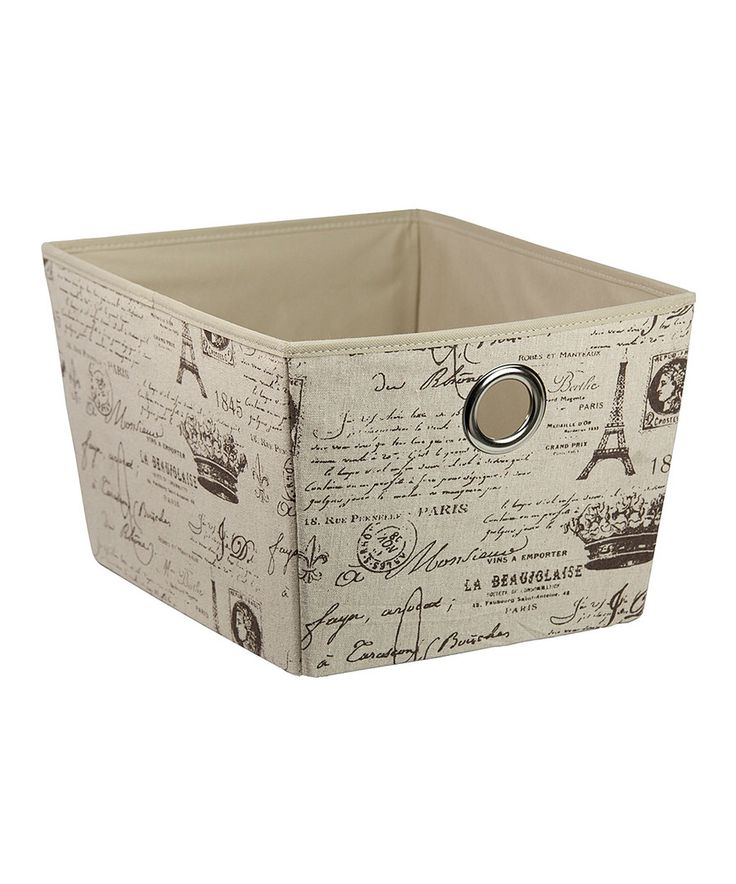 Look at this Large Paris Storage Tote on #zulily today!