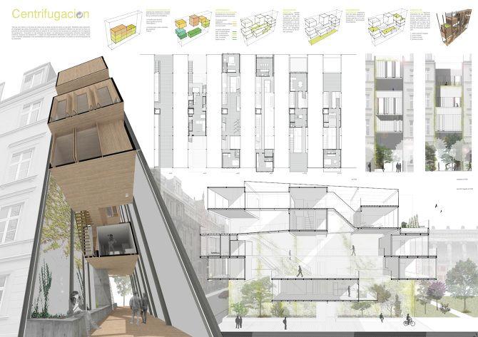 M s de 25 ideas incre bles sobre vivienda colectiva en - Vivienda entre medianeras ...
