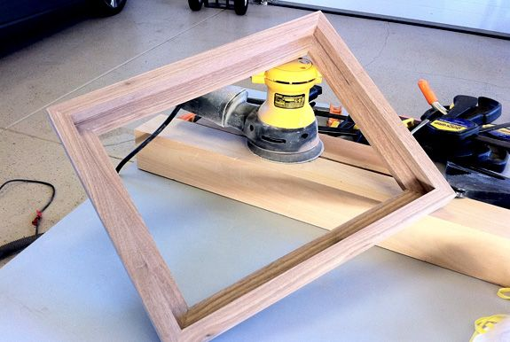 building a canvas floater frame …