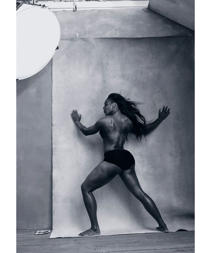Serena Williams, Amy Schumer, Patti Smith, Yao Chen and more powerful women of achievement were shot by Annie Leibovitz for 2016's Pirelli Calendar.  Pictured: Serena Williams