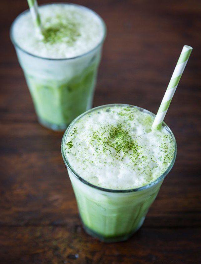 Охлажденный Латте с зеленым чаем
