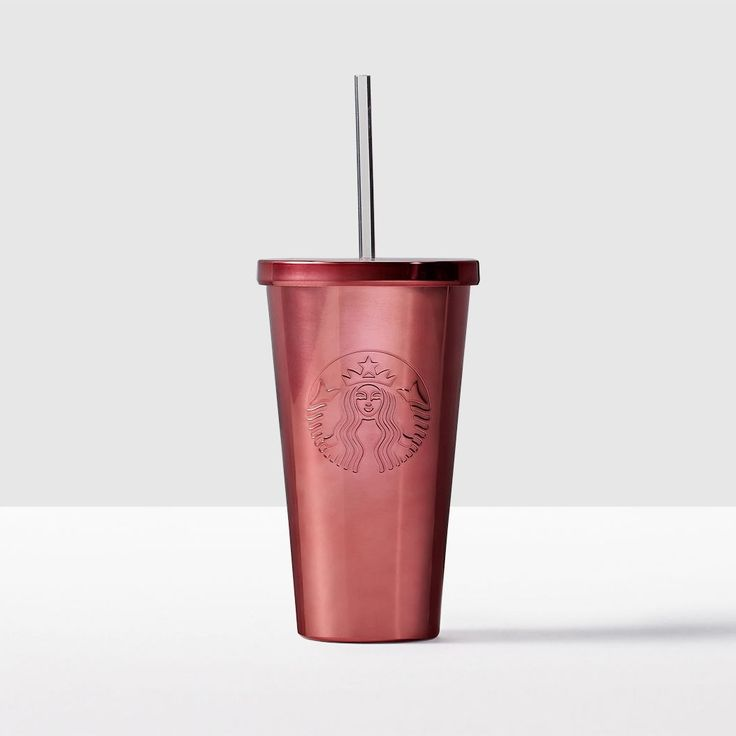 Stainless Steel Cold Cup - Pink. Clean, simple design made for all your favorite cold drinks.