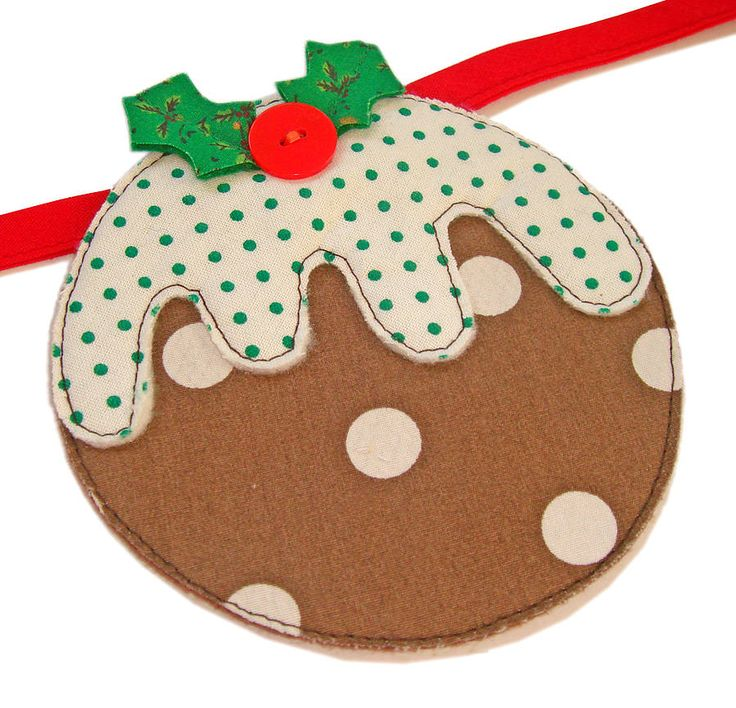 Christmas pudding bunting - CUTE!!