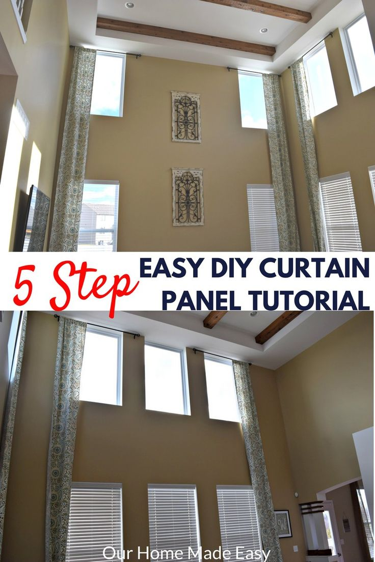 Great Room Window Treatment Ideas Part - 44: An Easy Tutorial On Making Your Own Two Story Curtain Panels! Easy U0026 Quicku2026