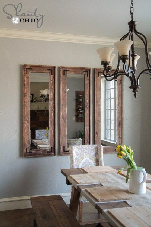 Diy Full Length Mirror Dining Room Wall Decor Living Room Decor Country Home Decor