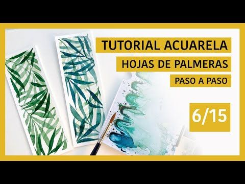 Pintar hojas de PALMERAS con ACUARELAS Book Markers, Guache, Watercolor Drawing, Folk Art, Paper Crafts, Drawings, Painting, Watercolors, Youtube