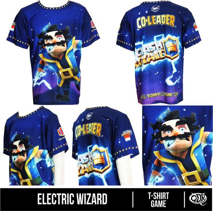 Electric Wizard (Jersey Clash of CLans) Bahan: Dry-fit printing: sublimasi untuk pemesanan: BBM D5443117 Qdr online shop WA/LINE 081222970120