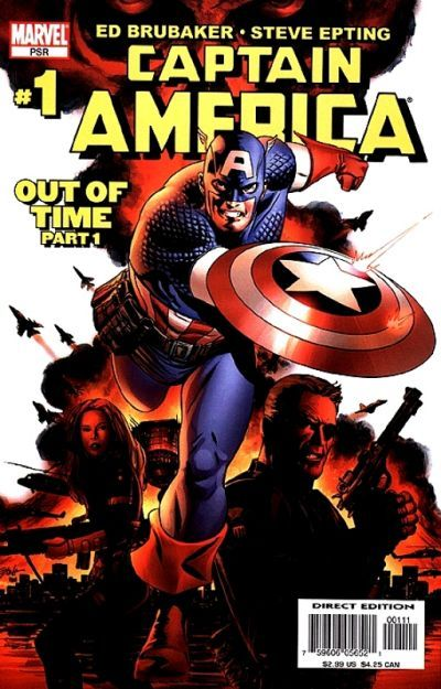 Captain America vol 5 #1 (2005), Return of Bucky Barnes after more that 60 years pass since his apparent death, and his 1st appearance as the Winter Soldier.