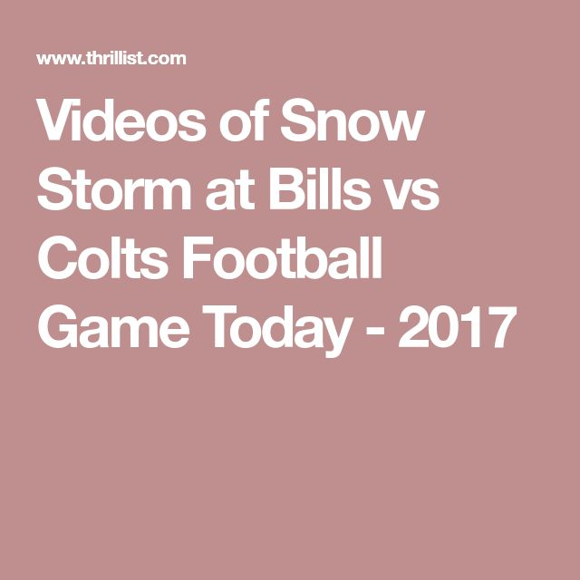 Videos of Snow Storm at Bills vs Colts Football Game Today - 2017