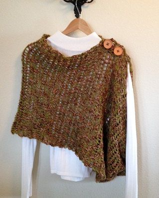 Mobius Wrap Loom Knit Pattern - can be worn as poncho