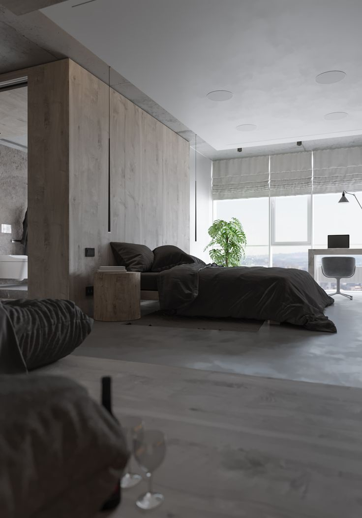 Interior in concrete and wood 399 best