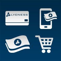 Four Types of Shopping With Lyoness, Members always have the right type of shopping available worldwide: Whether it's with the Cashback Card, Mobile Vouchers (Mobile Cashback), Loyalty Merchant Vouchers/Gift Cards or Online Shopping