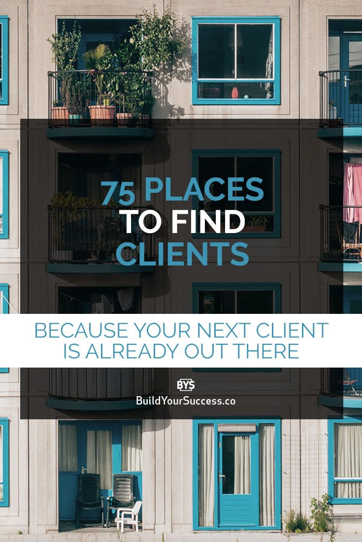 Finding clients is one of the things that keep Creatives up at night. Over and over you hear designers stressing out because they have a hard time finding their next client. That's why I created this list of 75 places to find clients. What are you waiting for?