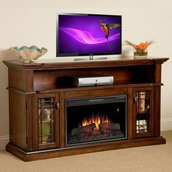 Cottage and Electric fireplace tv stand