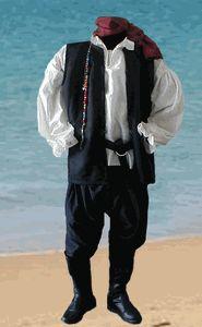 Mens Peasant Pirate Costume