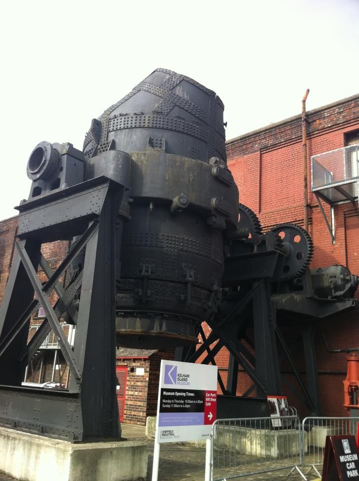 Bessemer Converter, Kelham Island Industrial Museum. Sheffield. South Yorkshire. Think Andy might like this.