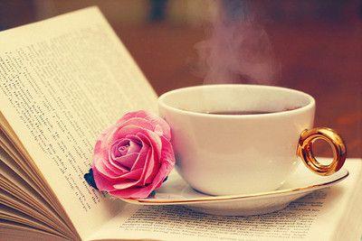 tea & book = bliss