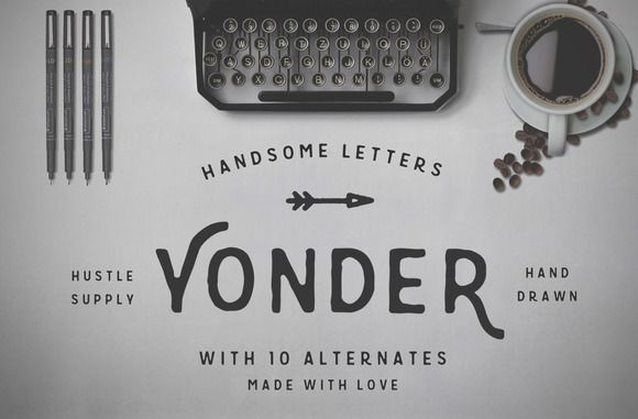 Check out Yonder - Hand Drawn Font by Hustle Supply Co. on Creative Market