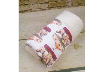 Baby Blanket Parisian Carousel - ORGANIC BAMBOO & ORGANIC COTTON