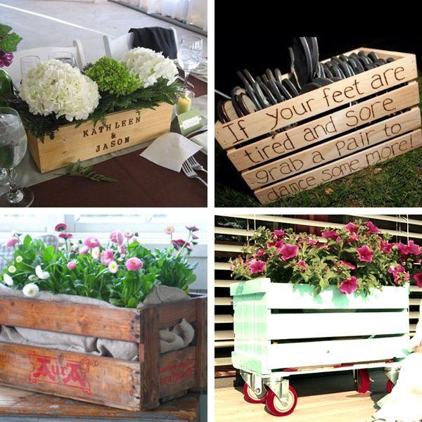 Caixas de madeira: Wedding Decoration, De Fruta, De Feira, For Marriage, Wedding, Caixot Por, Caixot De, Box, Flore Rosa-Choqu