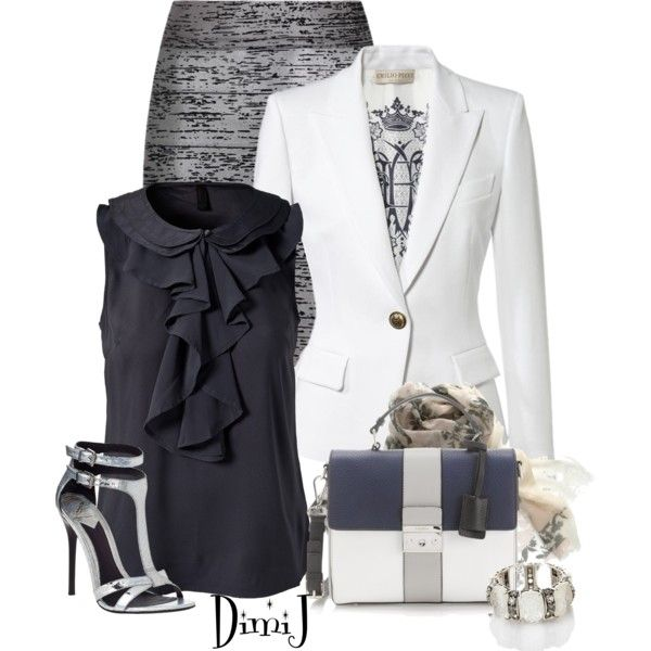 Office Look by dimij, via Polyvore