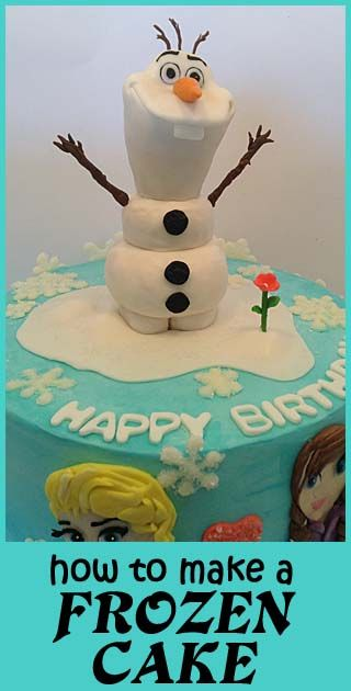 Olaf! How to make a Frozen Cake