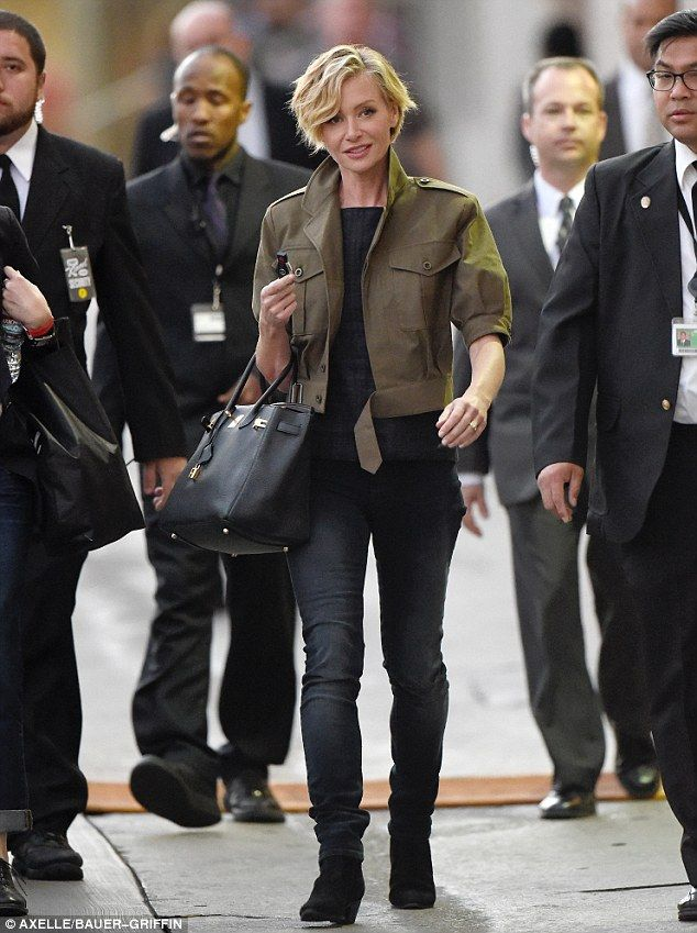 Trendy Portia de Rossi arrives for appearance on Jimmy Kimmel Live  #dailymail