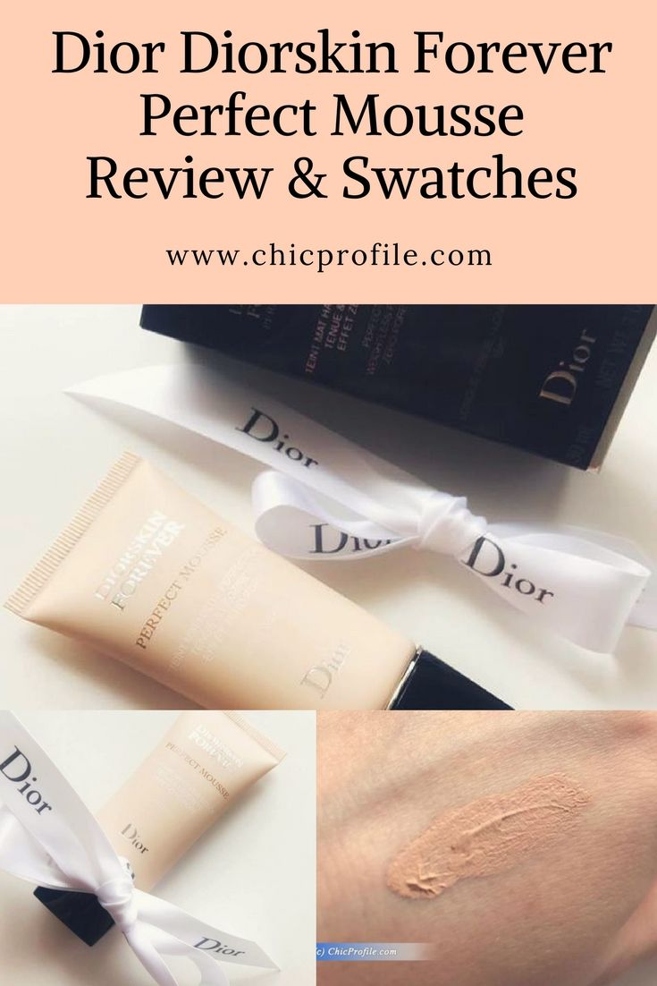 Dior Diorskin Forever Perfect Mousse is a new foundation launched in September 2017 and includes a range of eight colors. via @Chicprofile