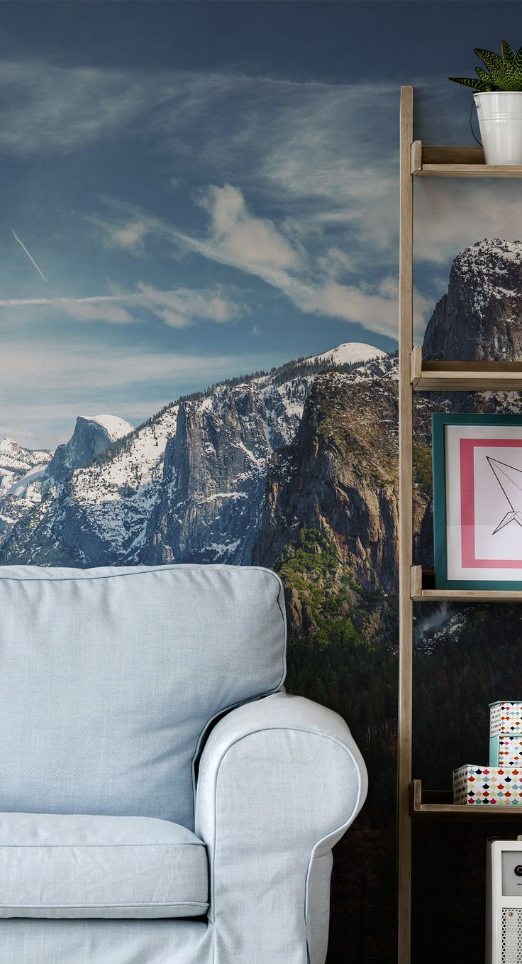 18 best new table top murals images on pinterest tabletop wall yosemite mountains wall mural from eazywallz