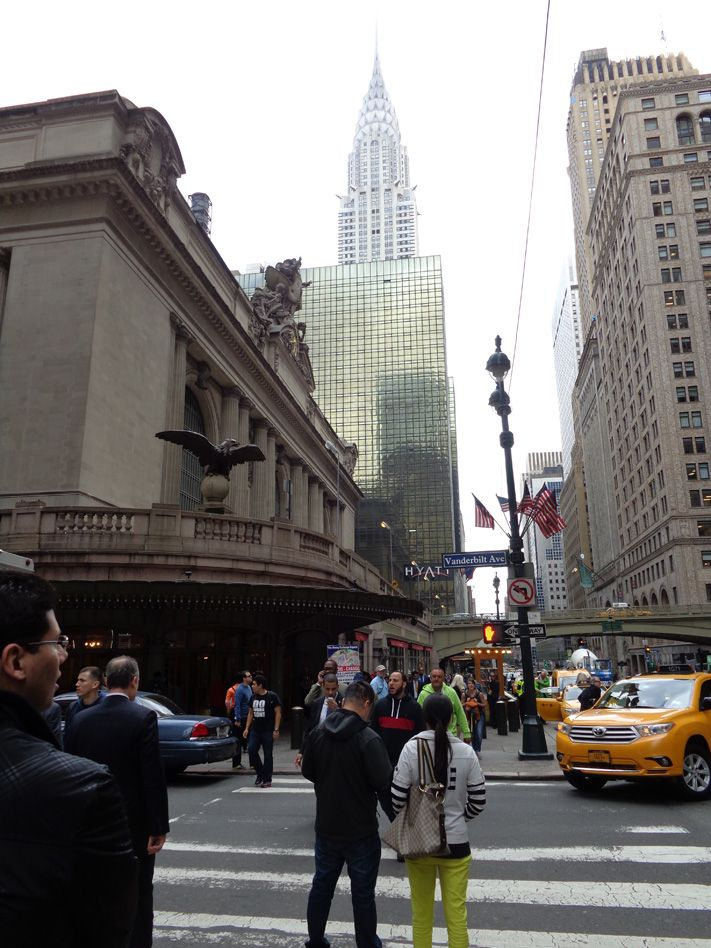 all'uscita dal Grand Termina si scorge il Chrysler Building
