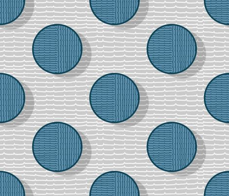 blue pois and stripes fabric by chicca_besso on Spoonflower - custom fabric