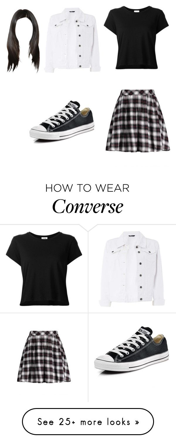 """Untitled #13490"" by iamdreamchaser on Polyvore featuring RE/DONE, Dorothy Perkins and Converse"
