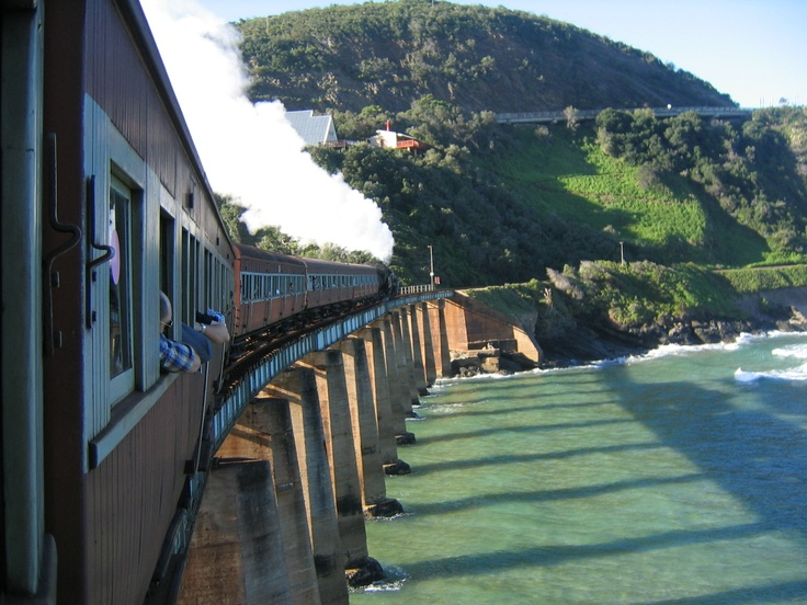 Enroute by steam train from George to Knysna