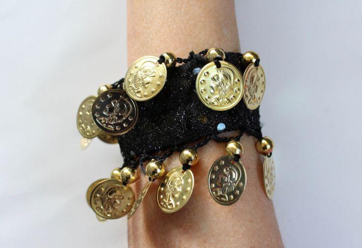 Hippie chic armband, Hippy chick bracelet jewelry Bohemian Ibiza