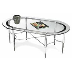 Sheridan Rectangular/oval Cocktail Table (black Nickel)